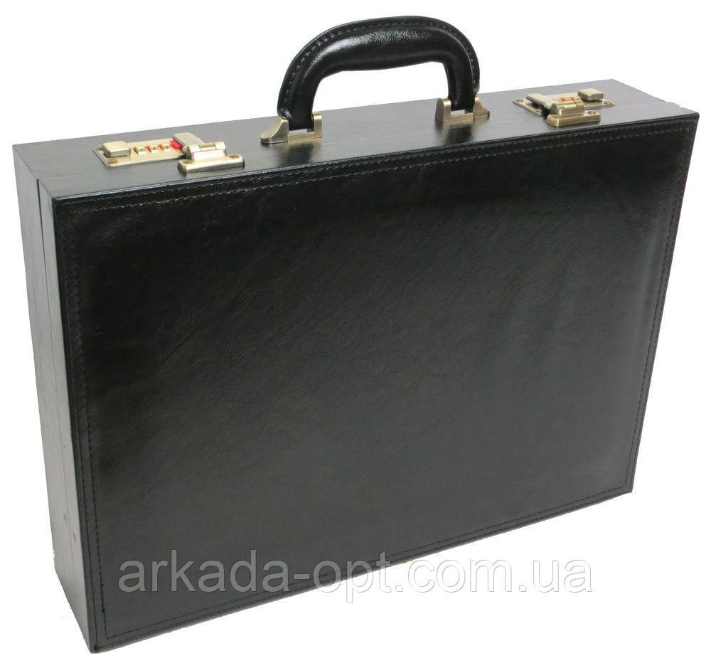 Портфель-дипломат 4U Cavaldi з еко шкіри Чорний (A1101)