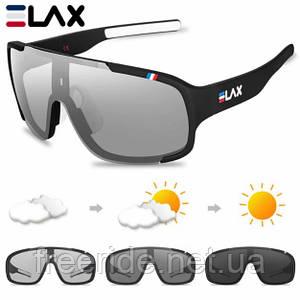 Сонцезахисні спортивні велоокуляри ELAX фотохромні чорні