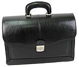 Портфель ділової зі штучної шкіри JPB Чорний (TE-83 black), фото 2