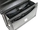 Портфель ділової зі штучної шкіри JPB Чорний (TE-83 black), фото 7