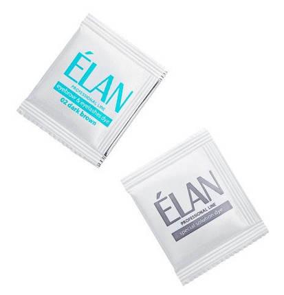 Гель-краска для бровей ELAN professional line в оттенке 02 dark brown, фото 2