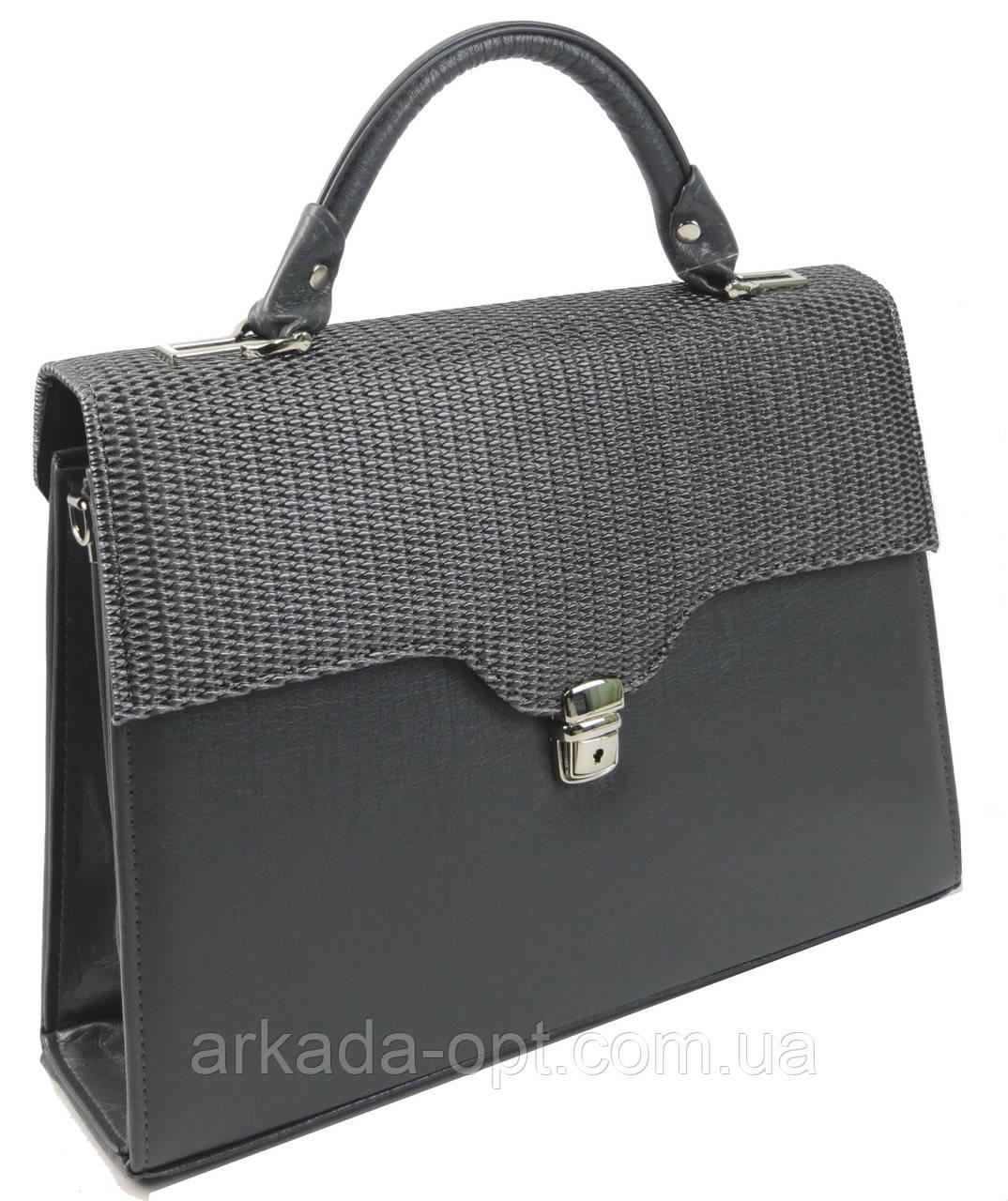 Женская сумка-портфель из искусственной кожи Arwena Серый (P0588F118 grey)