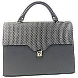 Женская сумка-портфель из искусственной кожи Arwena Серый (P0588F118 grey), фото 3