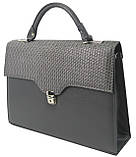 Женская сумка-портфель из искусственной кожи Arwena Серый (P0588F118 grey), фото 4