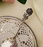 Серебряная кондитерская лопатка для торта,  десерта, серебро 800, Германия, Gebrüder Reiner, фото 3