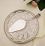 Серебряная кондитерская лопатка для торта,  десерта, серебро 800, Германия, Gebrüder Reiner, фото 4