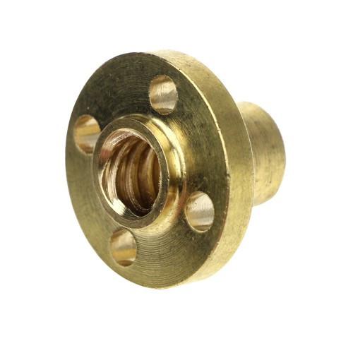 Гайка для трапецеїдального гвинта T8 O фланець мм (звичайна) крок різьби 8 мм