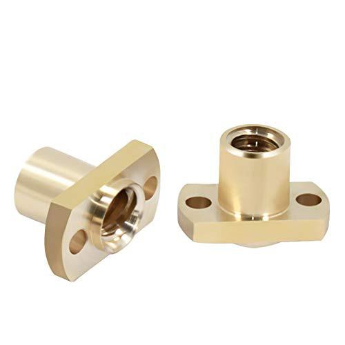 Гайка для трапецеидального винта T8 H фланец мм (обычная) шаг резьбы 8 мм