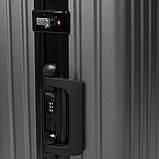 Валіза малий OUPAI темно-сірий 40х62х24 пластик ABS алюмінієвий каркас кс1106-1тсерм, фото 6
