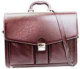Діловий портфель зі штучної шкіри AMO Бордовий (SST02 bordo), фото 2