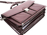 Діловий портфель зі штучної шкіри AMO Бордовий (SST02 bordo), фото 5