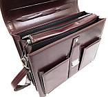 Діловий портфель зі штучної шкіри AMO Бордовий (SST02 bordo), фото 6