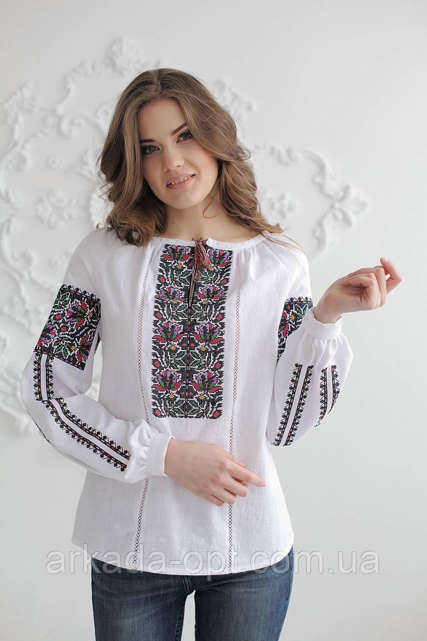 Жіноча вишиванка Скиба СК2391 42 Білий з візерунком