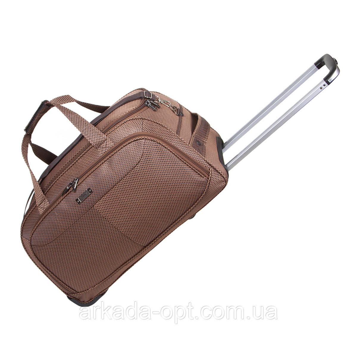 Дорожная сумка FILIPPINI малая три колеса  57х30х35  коричневая ксТ0045корм
