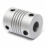 Алюмінієва муфта гнучка 8х10х25 мм для ЧПУ, фото 3