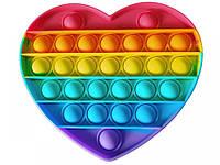 Сенсорна іграшка Pop It антистрес Вічна Пупырка Серце