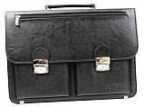 Деловой портфель из искусственной кожи Salvare Чёрный (N01A1 black), фото 3