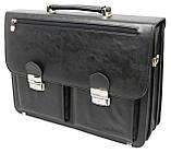 Деловой портфель из искусственной кожи Salvare Чёрный (N01A1 black), фото 4