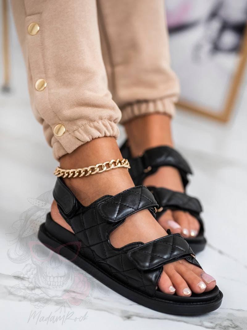 Босоніжки Сандалі жіночі низькому ходу чорні