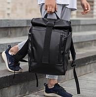 Роллтоп рюкзак мужской кожаный WLKR BAD