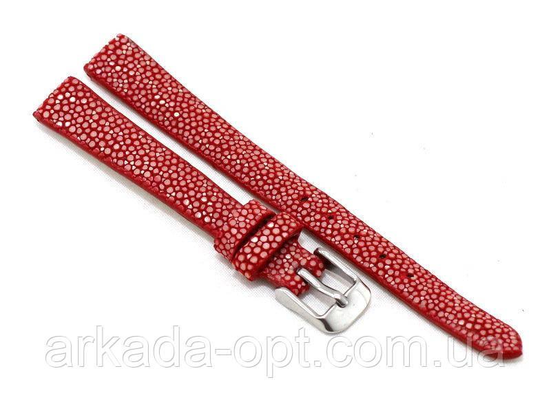 Ремешок для часов Exotic skin из кожи ската 24 мм Красный (ST-313 Red)