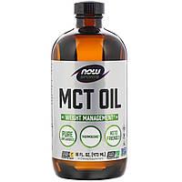 Масло МСТ, MCT Oil, Now Foods, Без Вкуса, 473 мл