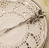 Срібна посуд сервіровки вилка з трояндою, Хильдесхаймская Троянда, срібло 835, Німеччина, Christoph Bach, фото 5