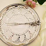 Срібна посуд сервіровки вилка з трояндою, Хильдесхаймская Троянда, срібло 835, Німеччина, Christoph Bach, фото 4