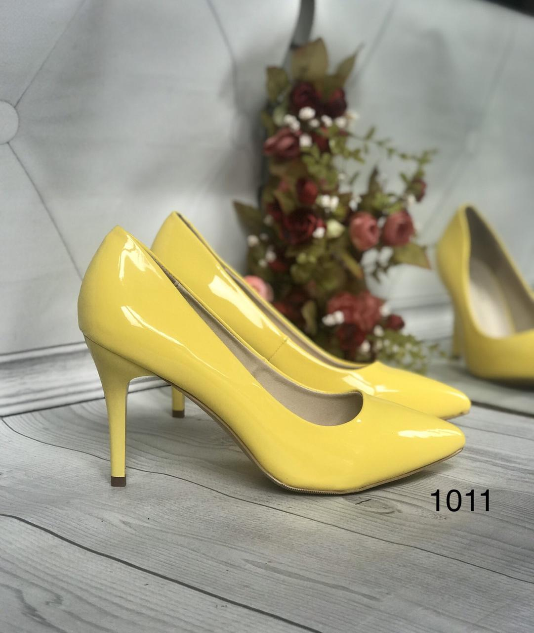 Желтые туфли лодочки