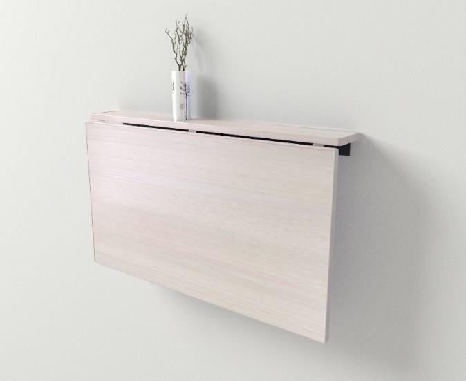Стол-трансформер Неман Мини 900*500 (900*120 в сложенном состоянии) Белый