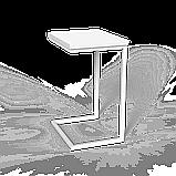 Стол приставной Неман Фиджи венге/корпус чёрный, фото 2