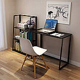 Стол приставной Неман Фиджи венге/корпус чёрный, фото 6