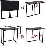 Стол приставной Неман Фиджи венге/корпус чёрный, фото 8