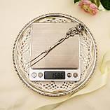 Срібна посуд сервіровки вилка з трояндою, Хильдесхаймская Троянда, срібло 835, Німеччина, Christoph Bach, фото 6