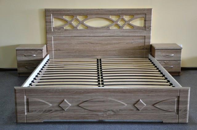 Двуспальная кровать Неман Лиана 140*200 Дуб сонома (109984)