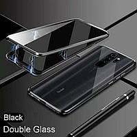 Магнитный чехол с защитным стеклом для Xiaomi Redmi Note 8 Pro цвет Черный