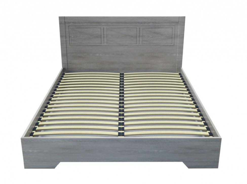 Кровать Неман Марсель двуспальная Дуб грей с деревянным вкладом 180х200