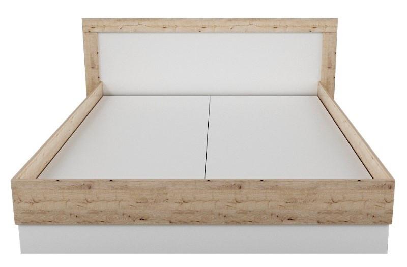 Ліжко Німан Вірджинія Лайт двоспальне Секвойя/білий 160х200