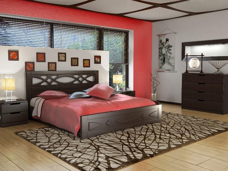 Двоспальне ліжко Німан Ліана 140*200 Венге (109972)