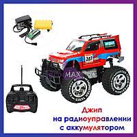 Большая детская машинка джип 4х4 на радиоуправлении и аккумуляторе 9002 радиоуправляемая игрушка вездеход
