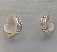 Позолоченные женские серьги. Элитная бижутерия Fallon от RRR на Украине. 55