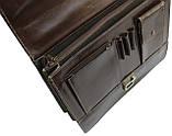 Мужской портфель TOMSKOR Коричневый (81563), фото 6