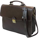Мужской портфель из натуральной кожи TOMSKOR Коричневый (81568), фото 2