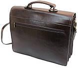 Мужской портфель из натуральной кожи TOMSKOR Коричневый (81568), фото 3
