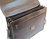 Мужской портфель из натуральной кожи TOMSKOR Коричневый (81568), фото 7