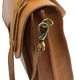 Чоловічий портфель з натуральної шкіри TOMSKOR Рудий (81569), фото 4