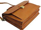 Чоловічий портфель з натуральної шкіри TOMSKOR Рудий (81569), фото 5