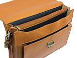 Чоловічий портфель з натуральної шкіри TOMSKOR Рудий (81569), фото 6