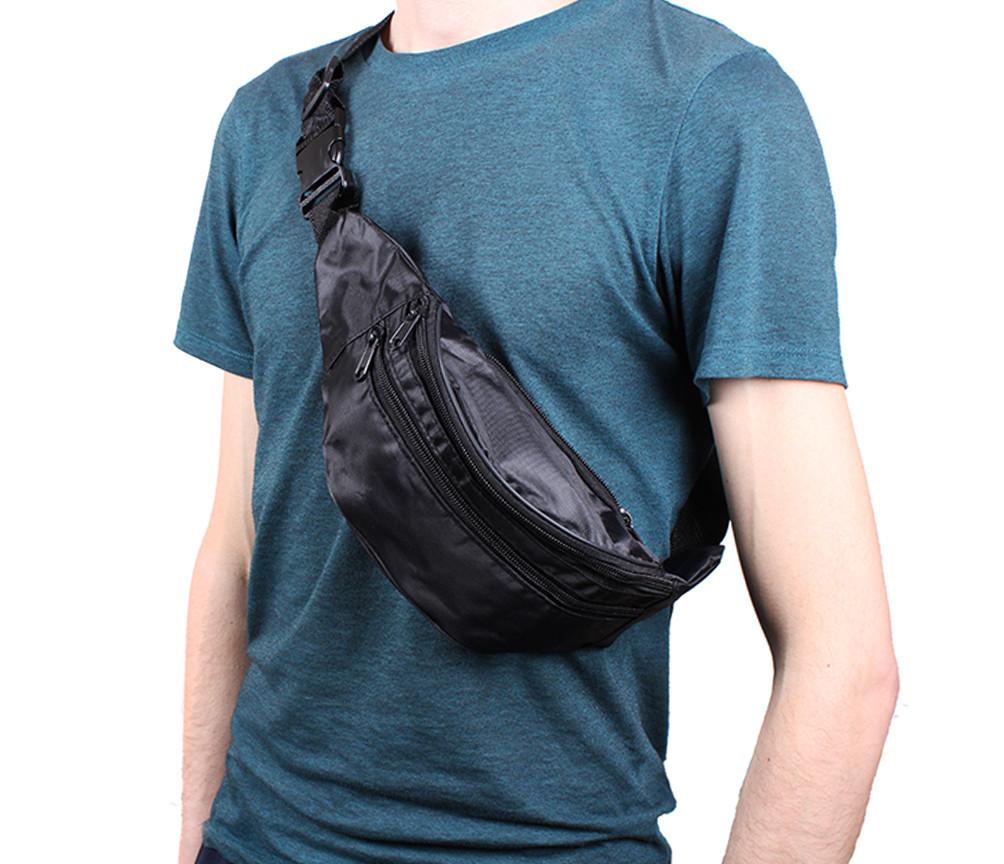 Поясная сумка - мужская барсетка - бананка (150085ч)