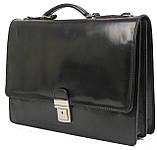 Мужской портфель из натуральной кожи TOMSKOR Черный (81573), фото 2